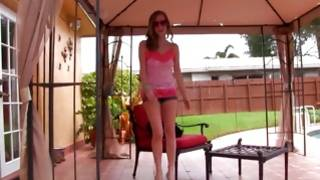Gorgeous teen gf is posing lovely at the pool