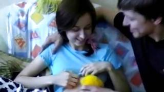 Little brunette is getting seduced for rough fucking on hardcore porn