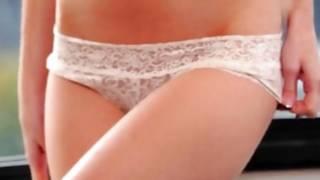 Erotic actress is sexually posing far and near masturbation