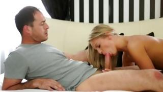 Sandy colored naughty slut sucked on her willingly muff