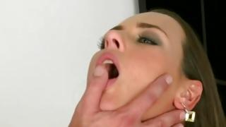That sweetie feels thrilling on soaked 2 males 1 female