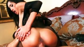 Thrilling sluttish damsel is riding on sextoy