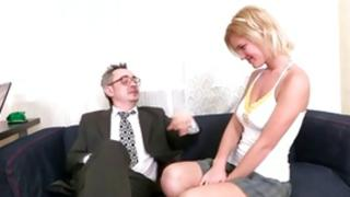 Blonde bombshell is licking a rough meaty 10-pounder