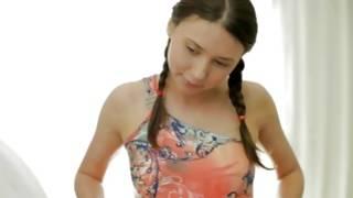 Observe hot massaging of perfect breasts