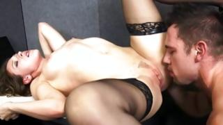 Hooker in pantyhose is drilled naughty