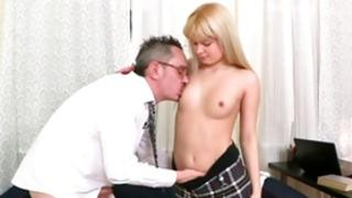 Blond marvelous tramp is getting her screwed by a debauched wicked guy
