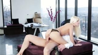 Magnetizing blonde secretary is testing a SD both ways player of her taskmaster very hard
