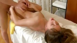 Sexually adorable oily slut is massaged on perfect flesh