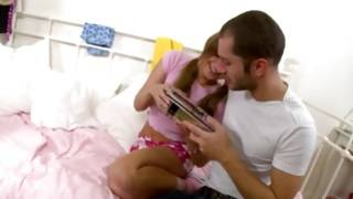 Horrible man is filthy undressing an amazing gal