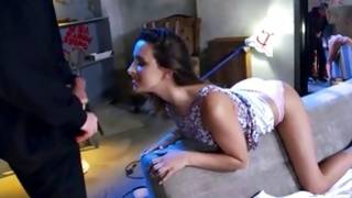 Filthy young gf is riding on long huge pecker