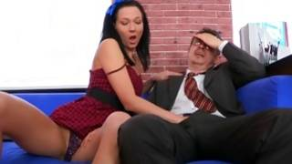 Glimpse on the great fucking between the aged teacher and the sluttish babe