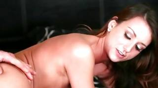 Nasty dark-haired girlie pounded brutally hard
